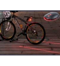 Lazer Güvenlik Şeritli Bisiklet Stop Lambası