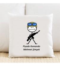 Mehmetcik Kişiye Özel Yastık Kılıfı Pi63