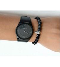 Siyah Saat Yanı Takı