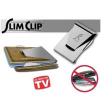 Slim Clip Çelik Para ve Kredi Kartı Cüzdanı