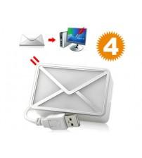 USB Girişli E-Mail Habercisi Masa Lambası