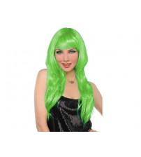 Uzun Peruk Saç - Yeşil