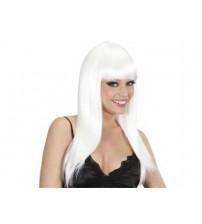 Uzun Peruk Saç - Beyaz