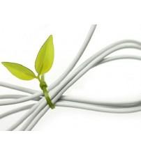 Yaprak Şeklinde Kablo Sabitleyici 12 Adet Birden