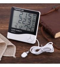 Masaüstü İç - Dış Mekan Dijital Termometre Nem Ölçer Higrometre