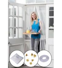 Mıknatıslı Manyetik Kapı Sinekliği Sineklik Tülü Perde (60cm x 210cm 2 Adet Tül)