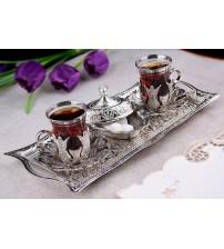 Osmanlı Motifli 2 Kişilik Çay Seti