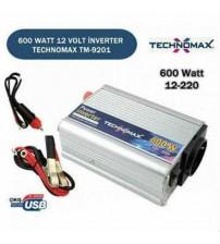 Oto Çakmağından 220V Çıkış Veren Dönüştürücü - DC - AC Güç Dönüştürücü 600W