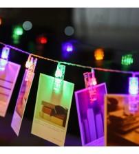 Renkli Işıklı Mandallı Fotoğraf Albümü 10 lu - RGB