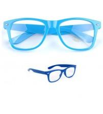 Renkli Tarz Gözlüğü - Mavi