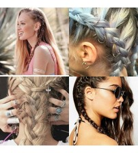 Saç Piercingi - Saç Yüzüğü - Gold