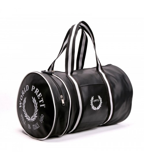 Spor Çantası - Seyahat Çantası - Silindir Çanta (Siyah)