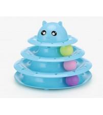 Tower Of Tracks 3 Katlı Kedi Oyuncağı Seti Model 2 - Mavi